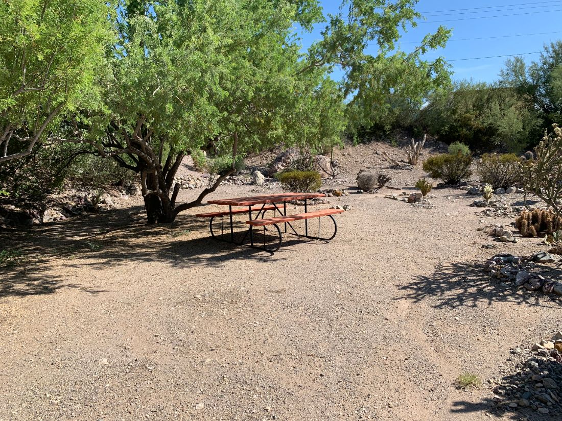 Picnic table on RV site