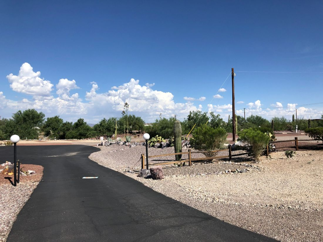 RV sites - view from the road